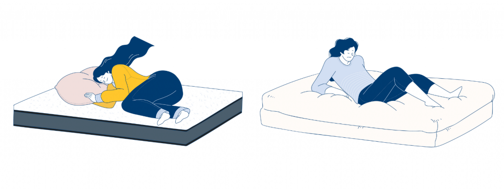 Sleeping sound on an Ecosa Mattress vs sinking into a soft, plus mattress
