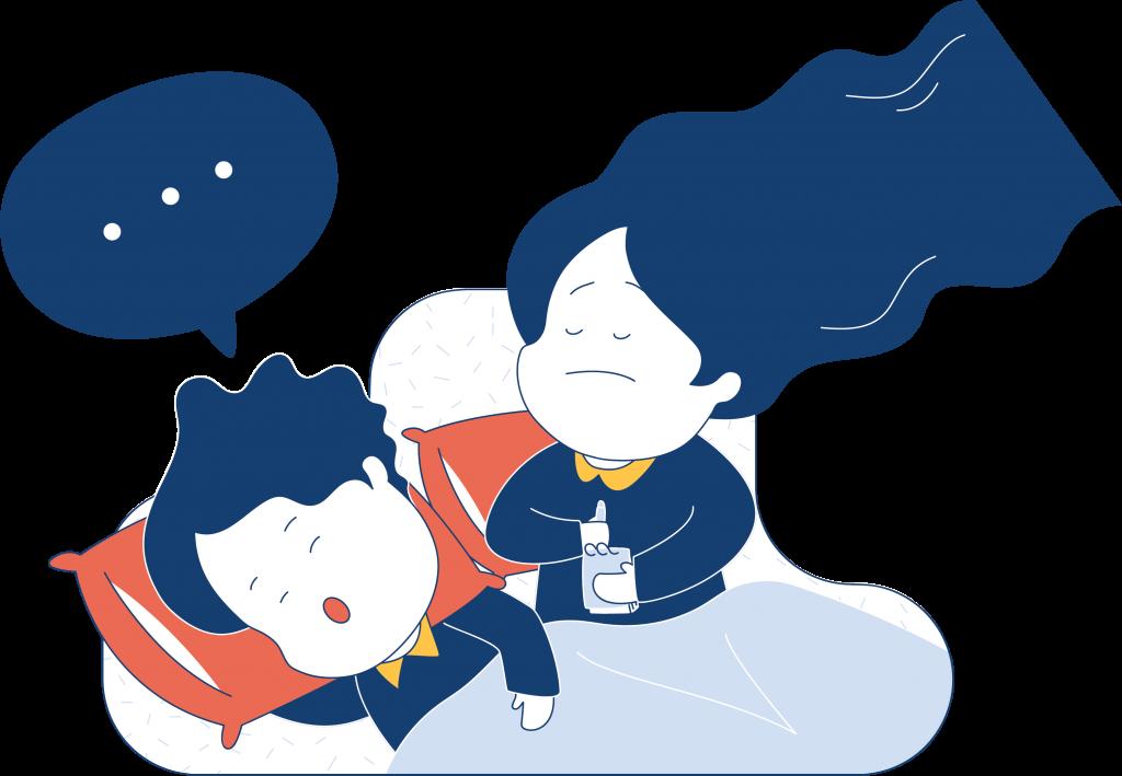 Sleep talking can disrupt the sleep of your partner.